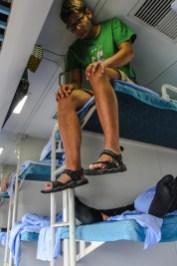 Im Chinesischen Zug im Hard Sleeper Abteil
