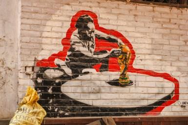 Street Art auf dem Pottery Square