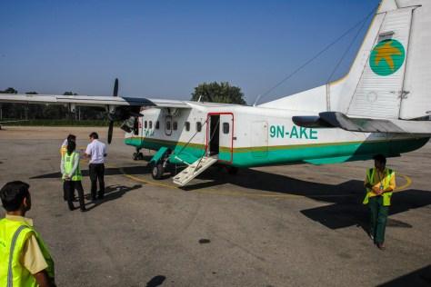 Flugzeug nach Lukla - mit 16 Plätzen recht übersichtlich
