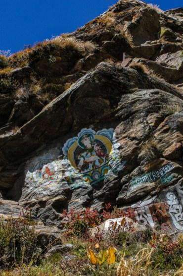 Felsgemälde von Guru Rinpoche