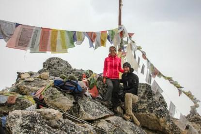 Auf dem Gipfel des Nangkartshang (5.083m)