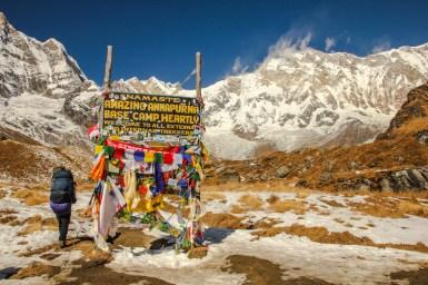 Willkommen am Annapurna Base Camp