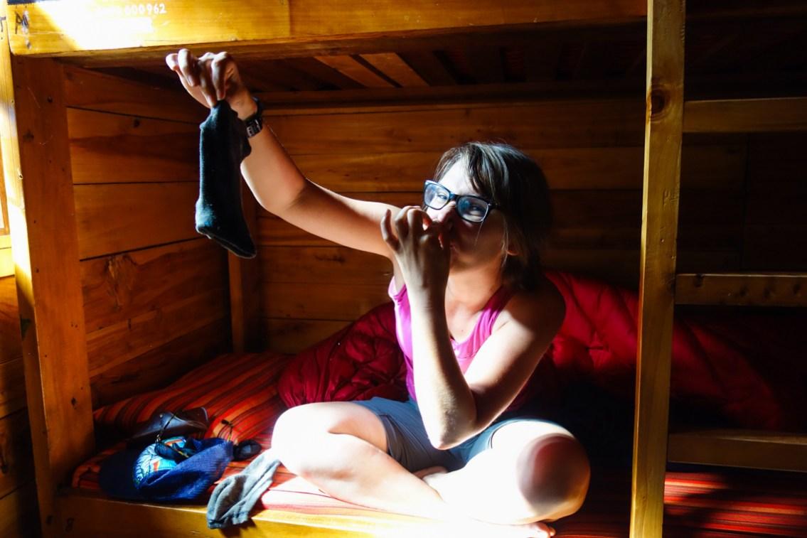 Sockenmüffel nach drei Tagen Wanderung