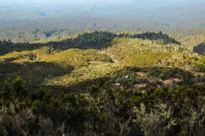 Blick auf das Machame Camp