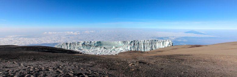 Gletscher am Uhuru Peak