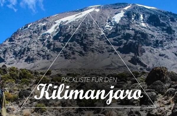 Packliste Kilimanjaro