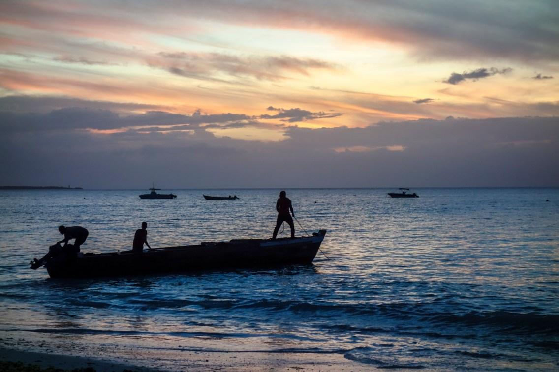 Fischer im Meer