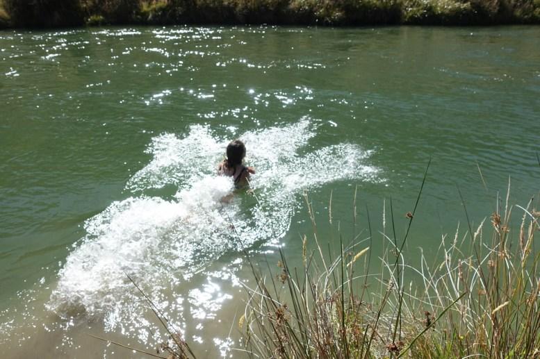 Schwimmen im Mararoa River
