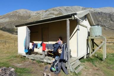 Sonne genießen an der Boundary Hut
