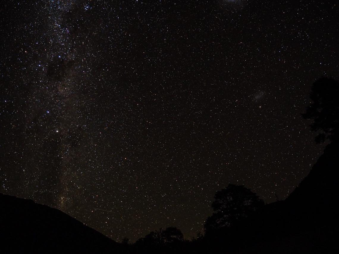 Sternenhimmel über der Boyle Flat Hut