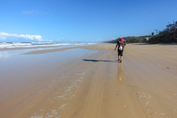 Beachwalking auf Fraser Island