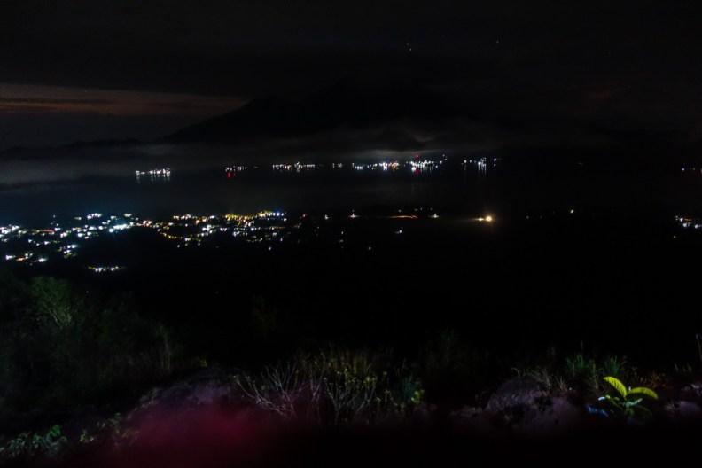 Aufstieg auf den Mount Batur in der Nacht