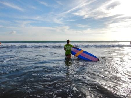 Surfen am Kuta Beach