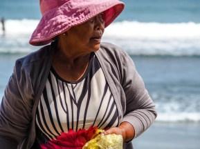 Verkäuferin am Kuta Beach