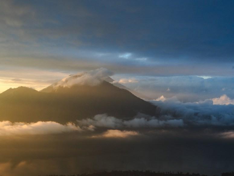 Blick auf den Mount Agung