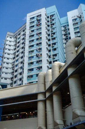 Wohnhäuser hinter dem Tekka Centre