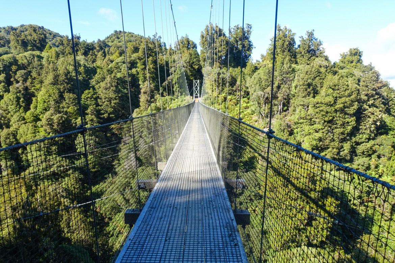 Hängebrücke auf dem Timber Trail