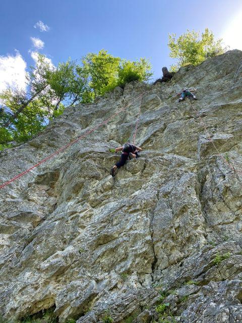 Klettern im Klettergarten am Wiesensee