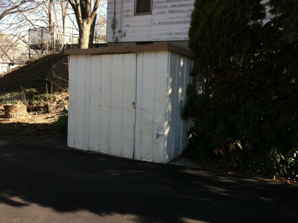 Ugly metal shed