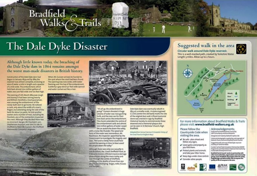 The Dale Dyke Disaster Information Board