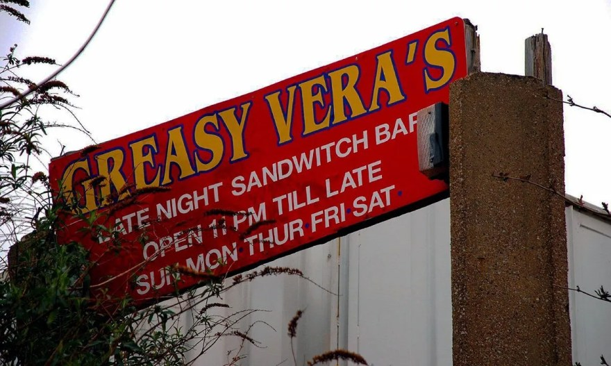 Greasy Vera's Sandwich Bar Sign