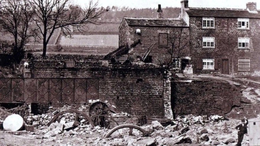 Destruction following the Sheffield Flood