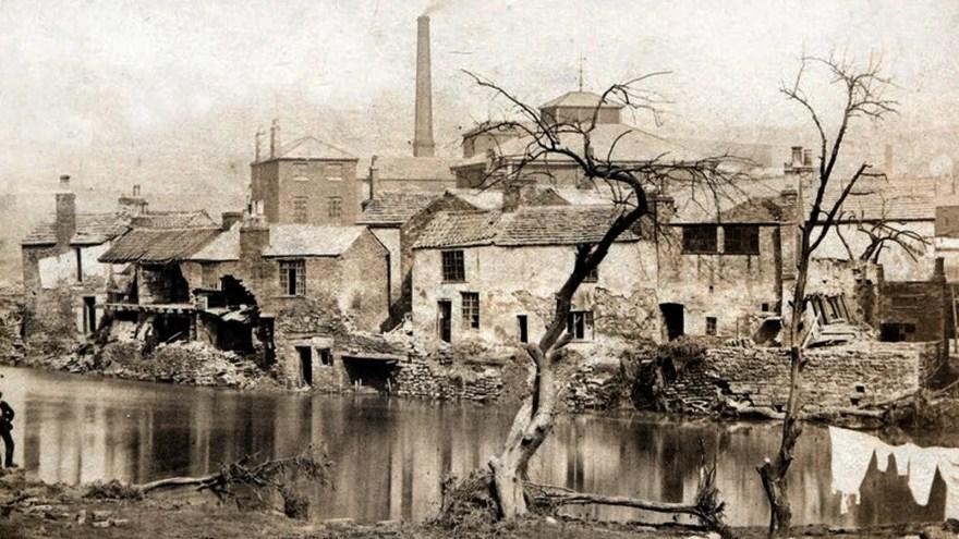 Illustration of Sheffield Floods