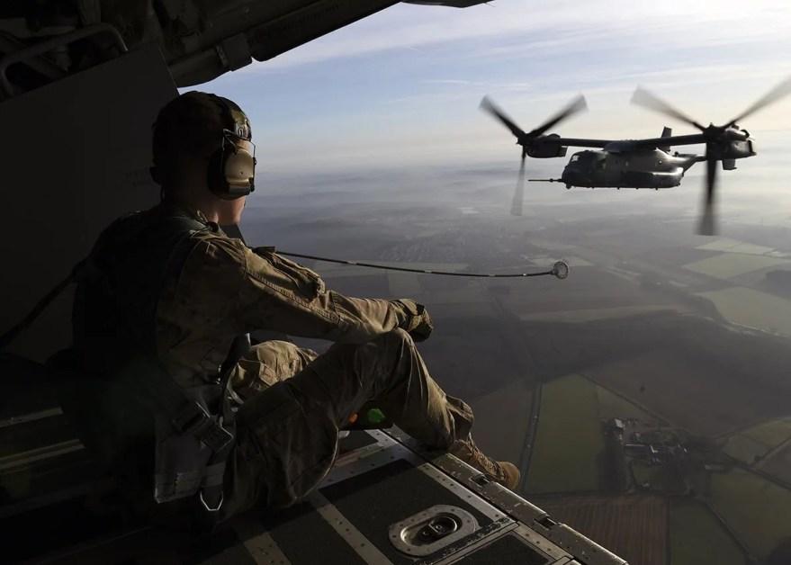 Air Force Flying to Mi Amigo Memorial Flypast