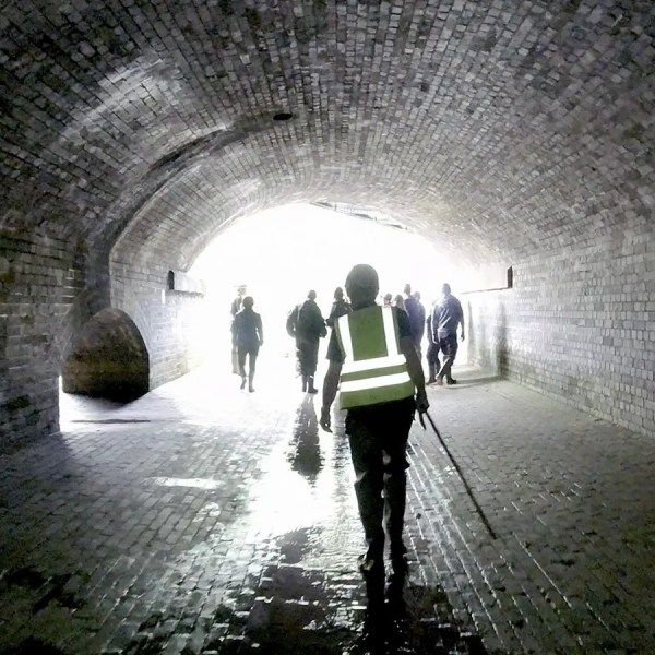 Secret Tunnels under Sheffield Train Station, leading to The Megatron river culvert system