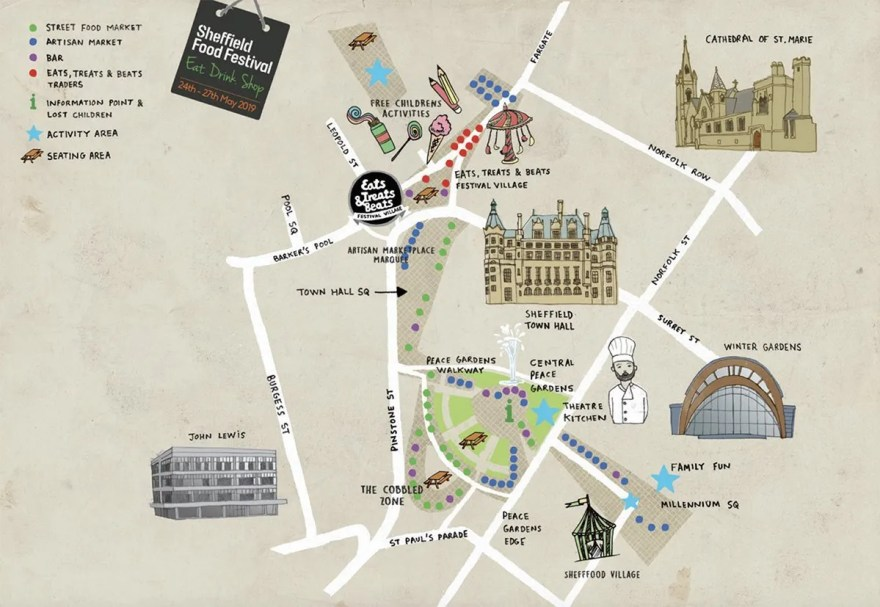 Sheffield Food Festival Map (2019)