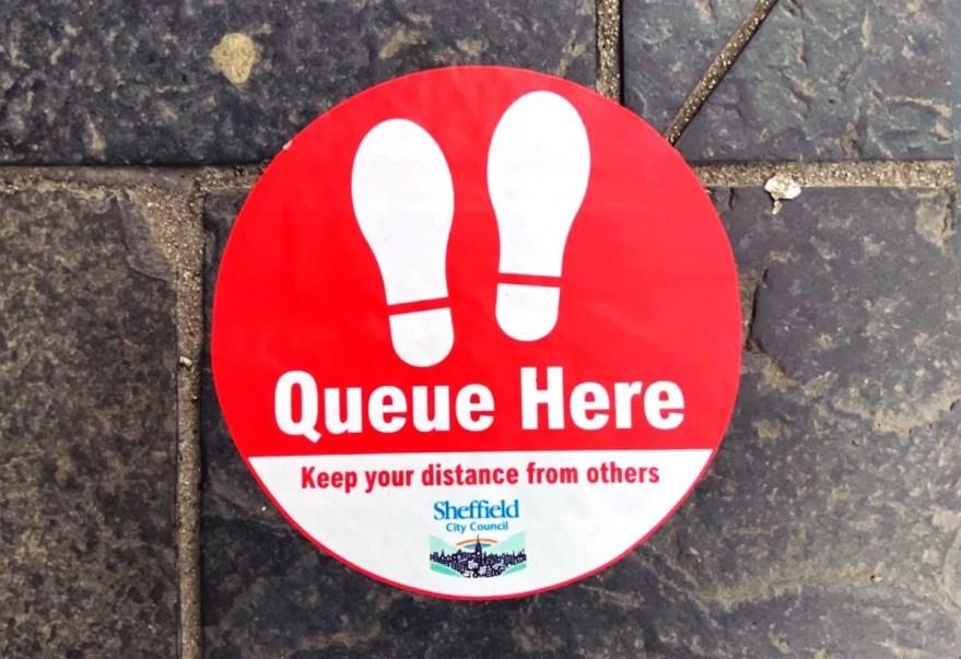 Sheffield Social Distancing Queue Markers
