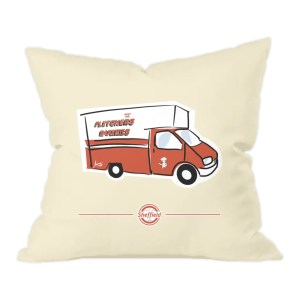 Fletchers Van Sheffield Natural Cushion