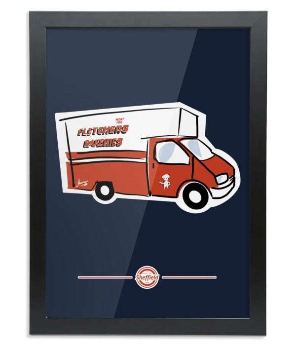 Fletchers Van Framed Art Print