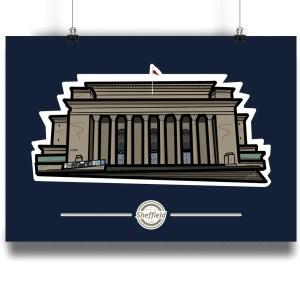 Sheffield City Hall Art Print