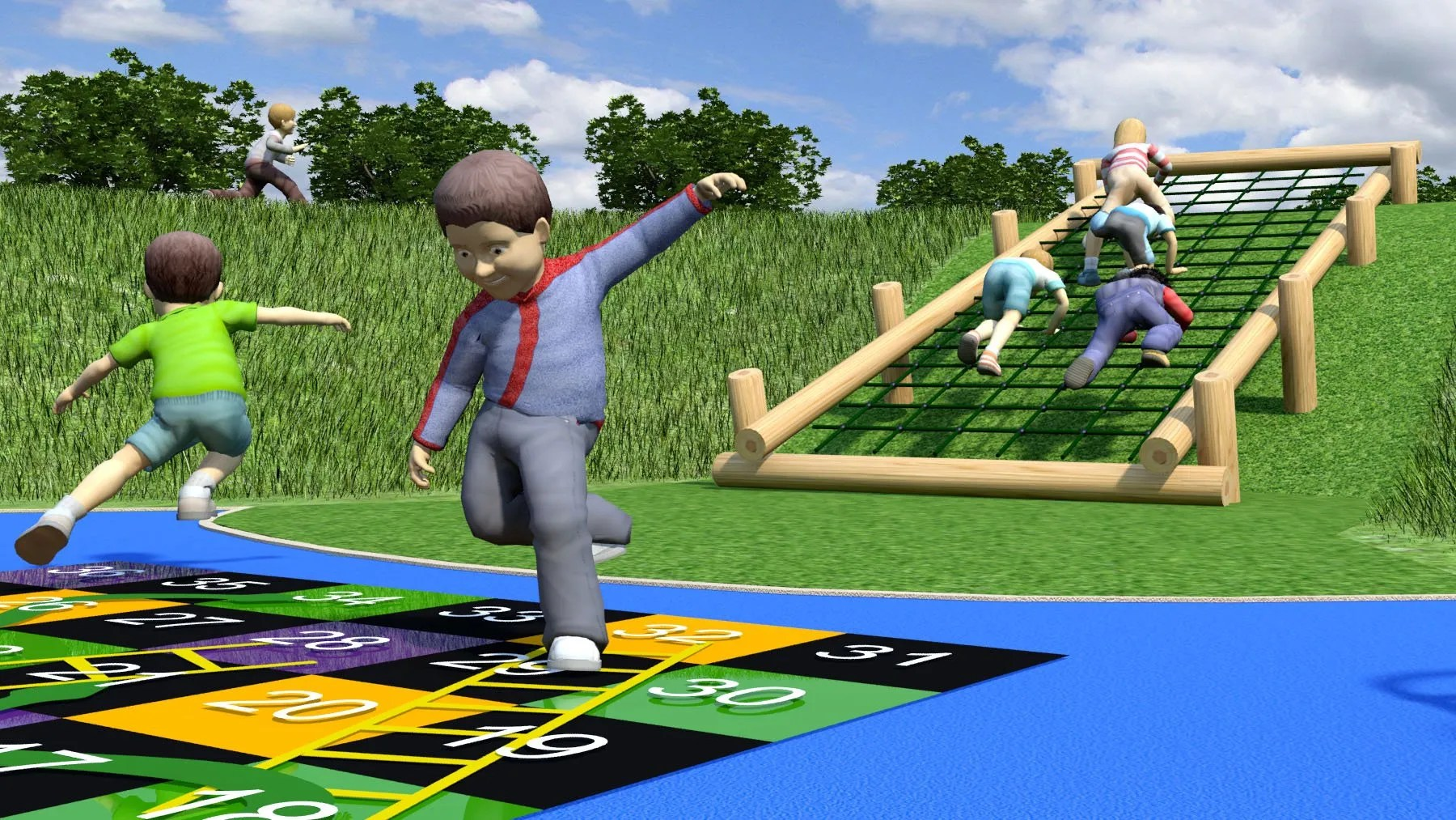Hillsborough Park Children's Playground Upgrades: Embankment Climbing Frame