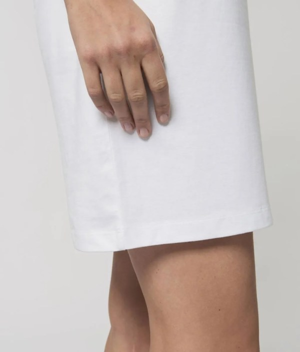 Made in Sheffield Embroidered Motif Organic Dress (Side), White