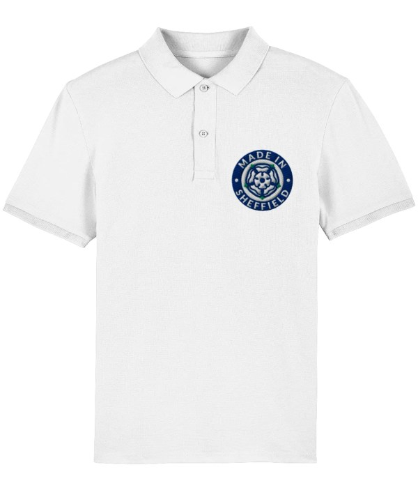 Made in Sheffield Embroidered Motif Polo Shirt, White