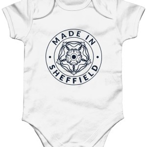 Made in Sheffield Babygrow, White