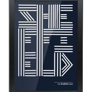 Sheffield Lines Typography Framed Art Print