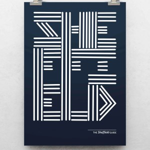 Sheffield Lines Typography Art Print