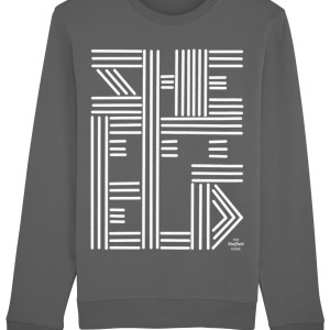 Sheffield Lines Typography Sweatshirt, Anthracite