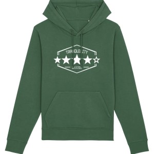 Tranquility: Four Out of Five (Arctic Monkeys) Hoodie, Bottle Green