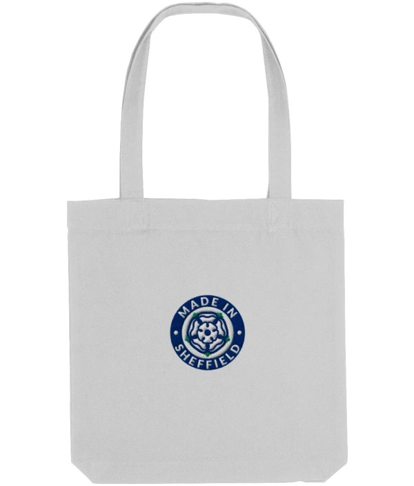 Made in Sheffield Embroidered Motif Tote Bag, Heather Grey