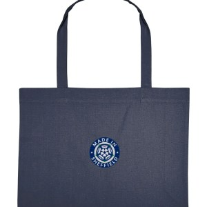 Made in Sheffield Embroidered Motif Shopping Bag, Midnight Blue