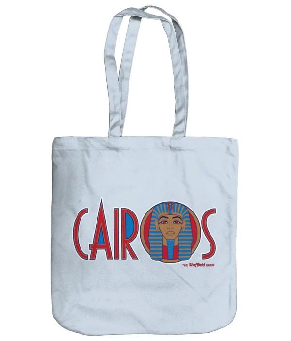 Cairos (Cairo Jax Nightclub) Sheffield Organic Tote Bag, Pastel Blue