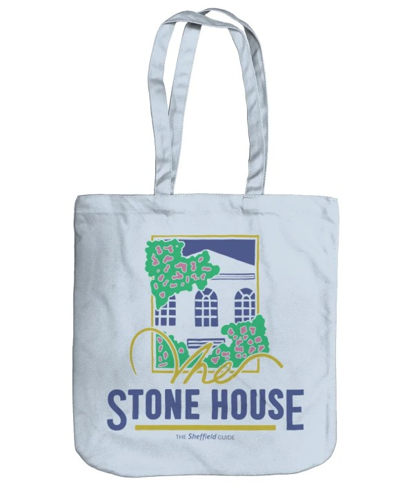 The Stone House Sheffield Organic Tote Bag, Pastel Blue