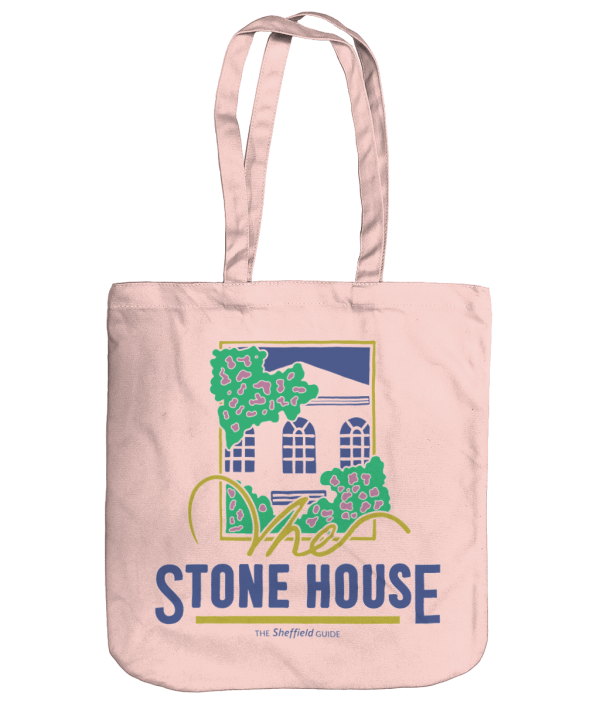 The Stone House Sheffield Organic Tote Bag, Pastel Pink