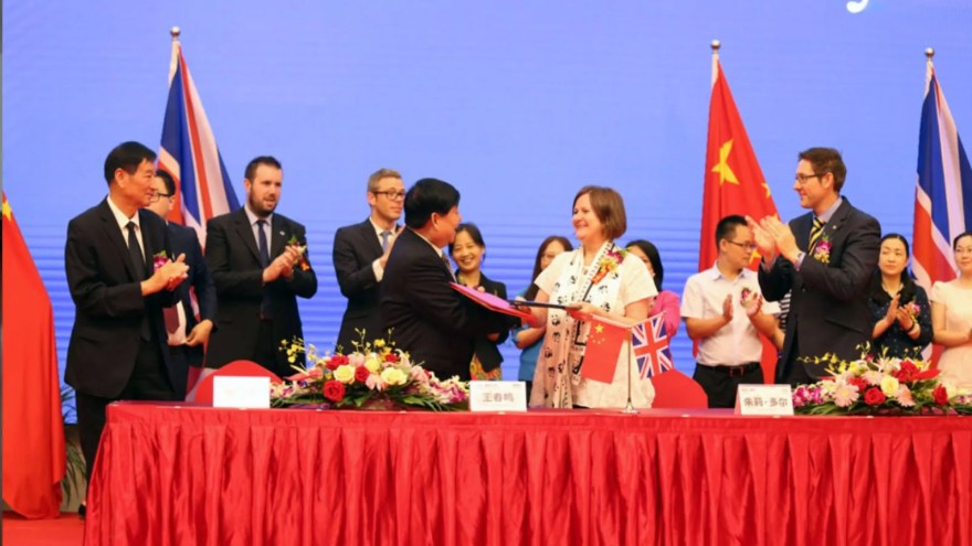Julie Dore, Leader of Sheffield City Council on a trip to China