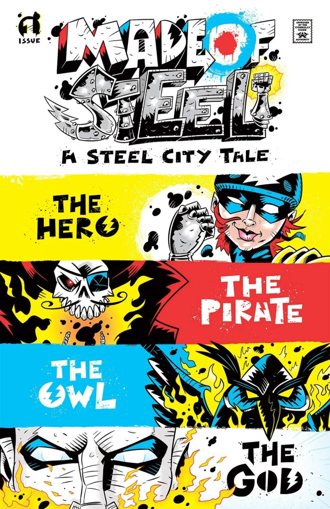 Made of Steel Comic Book Cover Sample, Issue 1 (Jim Connolly)