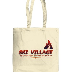 Ski Village: The Hottest Slopes in Town Organic Tote Bag, Natural